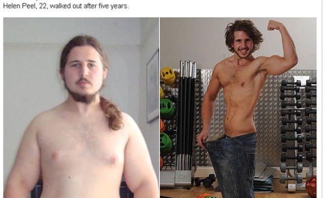 Antes y después en la vida de Shane Thomas | Foto: Diario The Sun